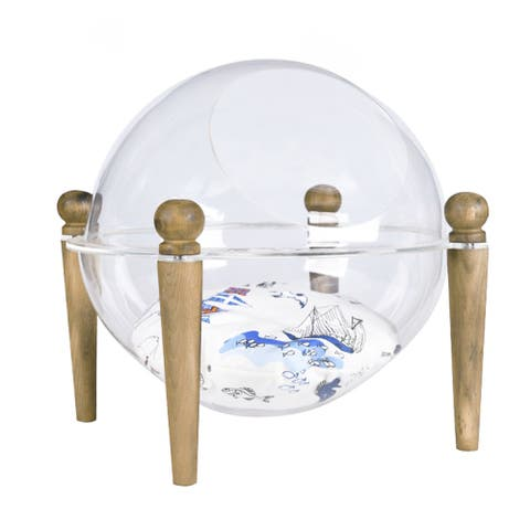 Contemporary Dog Bed for Cats and Small Dogs - Transparent Detachable Hemisphere Cozy Cave Bed