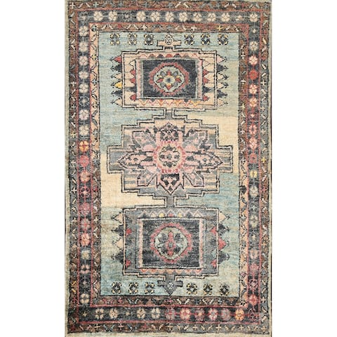 """Geometric Traditional Moroccan Oriental Area Rug Hand-knotted Carpet - 4'10"""" x 7'8"""""""