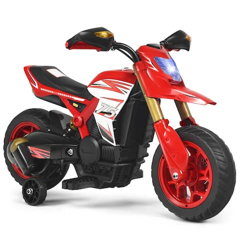 Gymax 6V Licensed Kids Ride On Motorcycle w/ Headlight Training Wheels - See Details