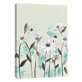 "PTM Images 9-105414  PTM Canvas Collection 10"" x 8"" - ""Alabaster Garden 4"" Giclee Flowers Art Print on Canvas"