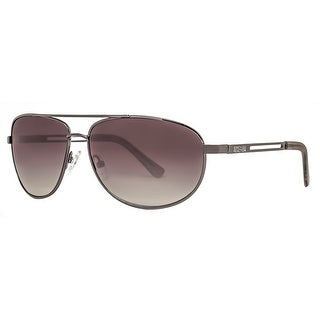 Kenneth Cole Reaction KC1069 00731 Men's Gunmetal Smoke Green Aviator Sunglasses - 63mm-14mm-127mm