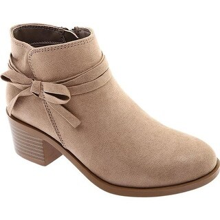 Nine West Kids Girls' Cyndees Short Bootie Taupe Microfiber