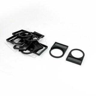 Unique Bargains 30mm Dia Pushbutton Switch Black Plastic Notice Board Cover 10 Pcs