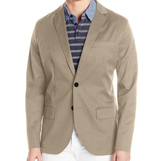 Nautica NEW Beige Mens Size XL Two Button Twill Classic Fit Blazer
