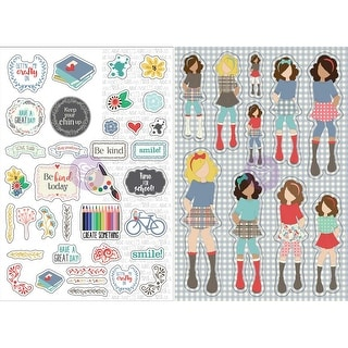 Julie Nutting Planner Monthly Stickers 2/Pkg-September - september