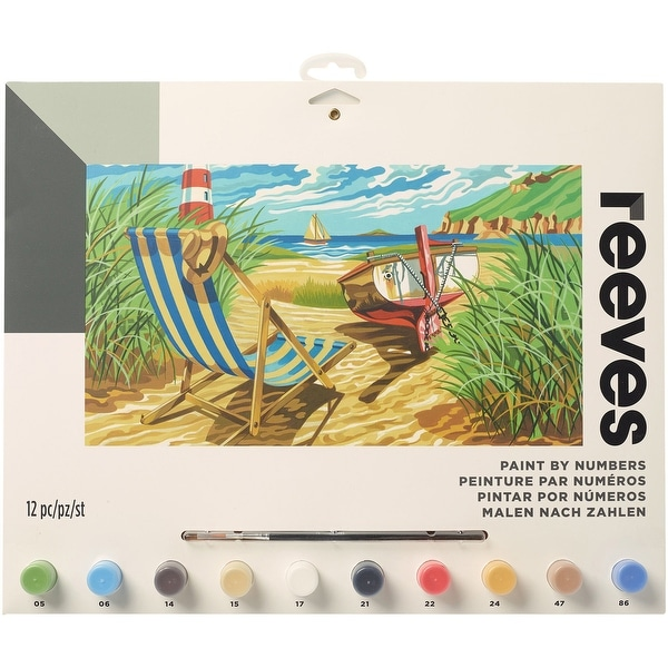"Paint By Number Kit 12""X16""-Seashore"