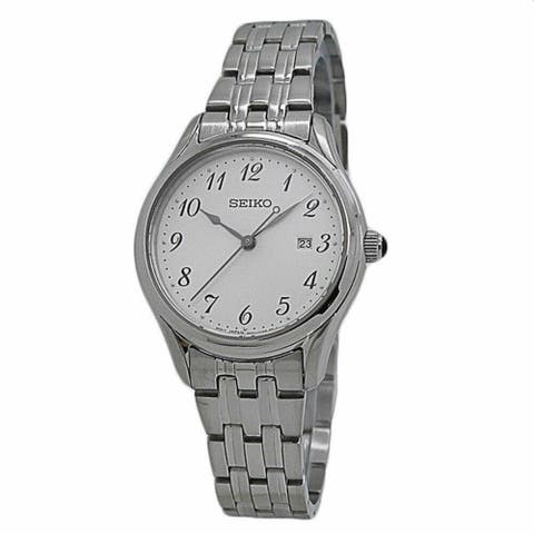 Seiko Women's SUR643 'Neo Classic' Stainless Steel Watch - Silver