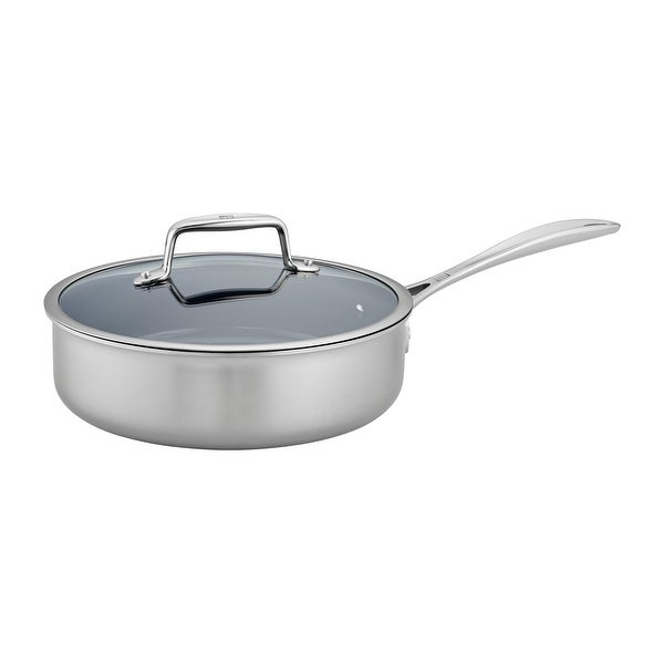ZWILLING Clad CFX Stainless Steel Ceramic Nonstick Saute Pan - Stainless Steel. Opens flyout.