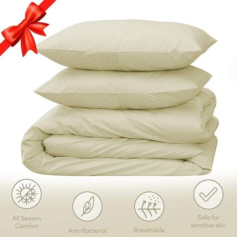 Luxury 300 Thread Count GOTS Certified Natural Cotton Duvet Cover Set