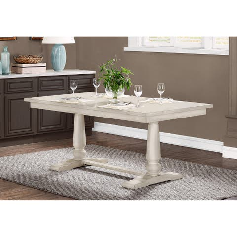 The Gray Barn Farmhouse Pedestal Dining Table