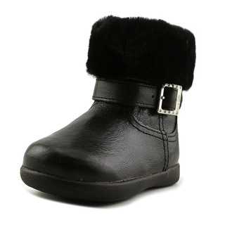 Ugg Australia Gemma Toddler Round Toe Patent Leather Black Winter Boot