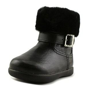 Ugg Australia Gemma Toddler Round Toe Patent Leather Black Winter Boot