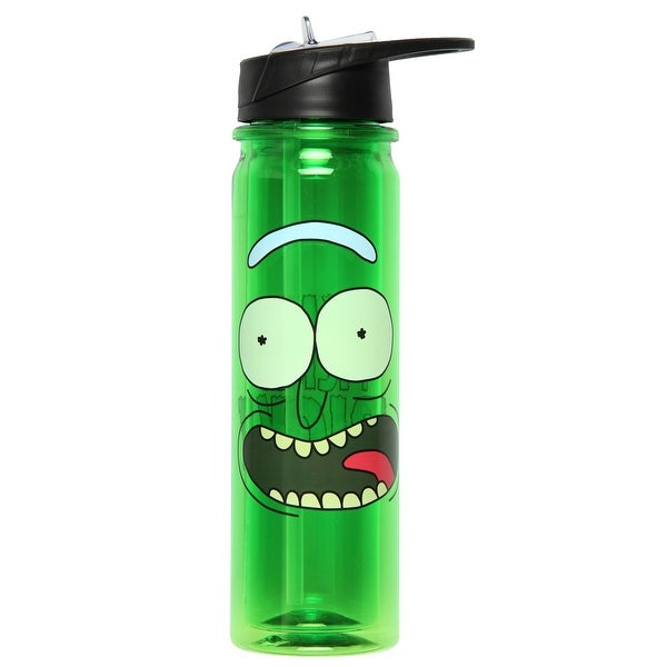 Rick and Morty Plastic Sports Water Bottle with Flip Top Lid - I'm Pickle  Rick - 18 oz