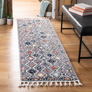 Link to Safavieh Morocco Bohemian & Eclectic Tribal Grey/Multi Polyester Rug Similar Items in Rugs