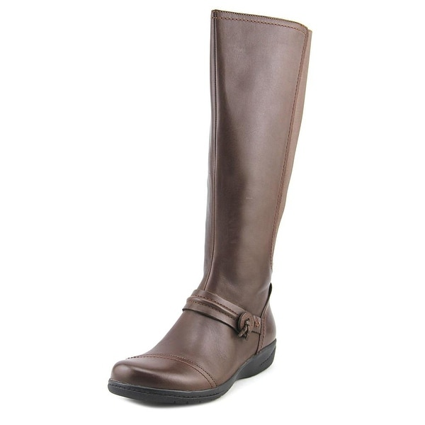 Clarks Cheyn Whisk Women Round Toe Leather Brown Knee High Boot