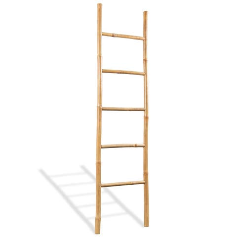 "vidaXL Towel Ladder with 5 Rungs Bamboo 59"""