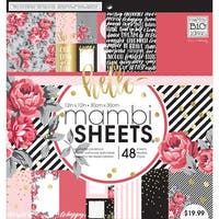 """Life Is Rosy - Mambi Single-Sided Paper Pad 12""""X12"""" 48/Pkg"""