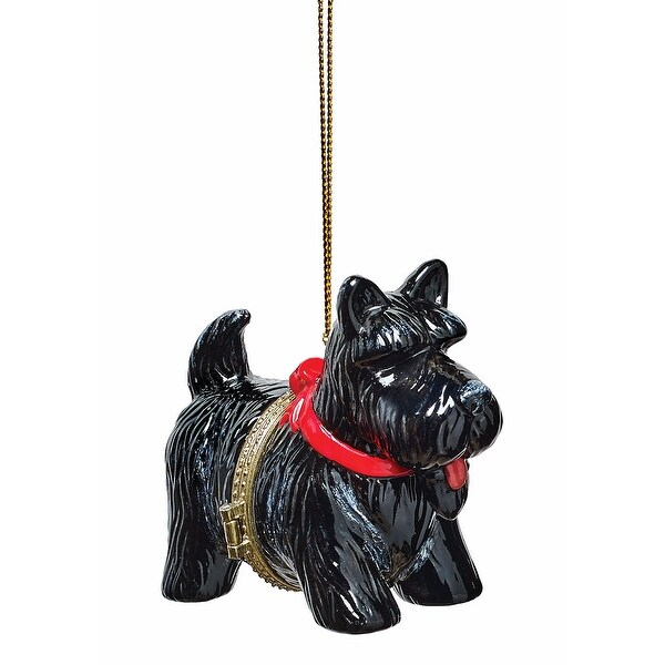 Shop Christmas Decoration - Porcelain Surprise Ornaments Box - Scottie Dog - Free Shipping On Orders Over $45 - Overstock - 18260919