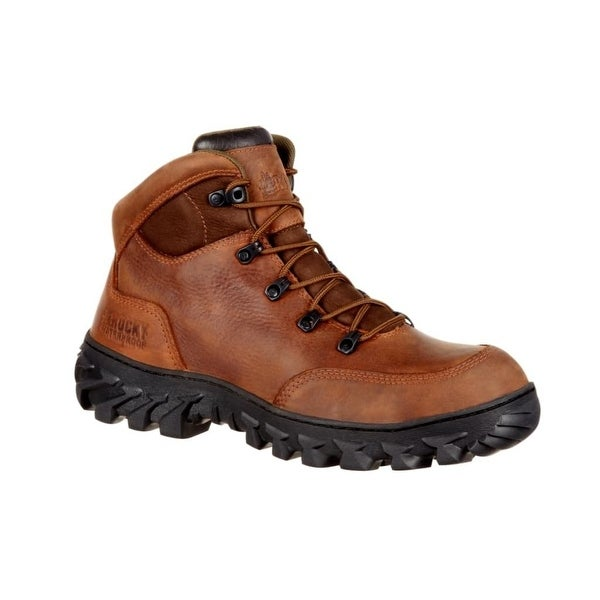 Rocky Work Boots Mens S2V Waterproof Leather Lace Up Brown