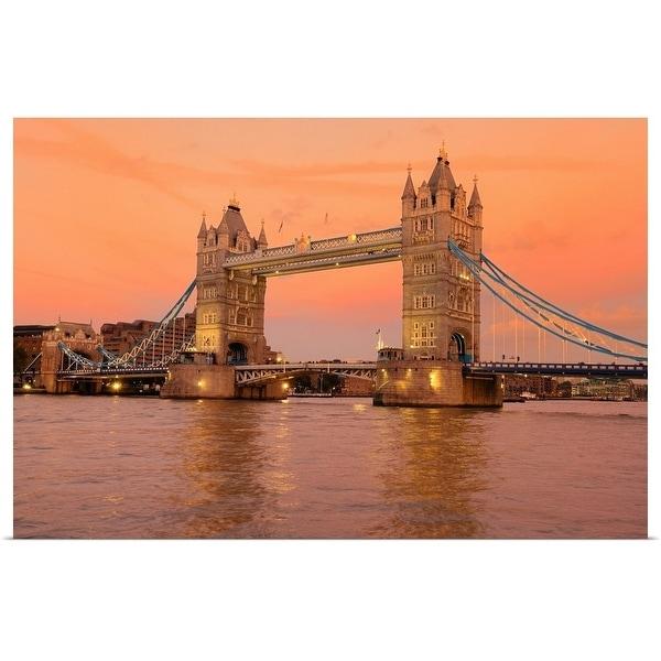 """""""Tower Bridge at dusk in London."""" Poster Print"""
