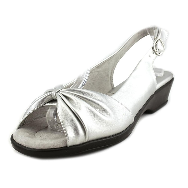 Easy Street Fantasia Women Silver Sandals