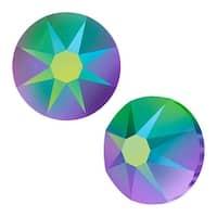Swarovski Elements Crystal, Round Flatback Rhinestone SS20 4.6mm, 50 Pieces, Crystal Scarabaeus Green