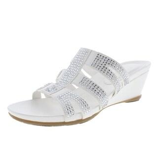 Naturalizer Womens Song Slide Dress Wedge Sandals