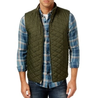 Weatherproof NEW Pine Green Mens Size 2XL Quilted Full-Zip Vest Jacket