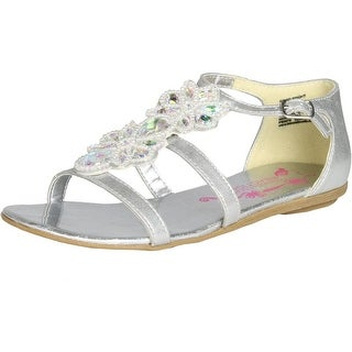 Kenneth Cole Girls Good Bright Sandals - White - 5 m us big kid