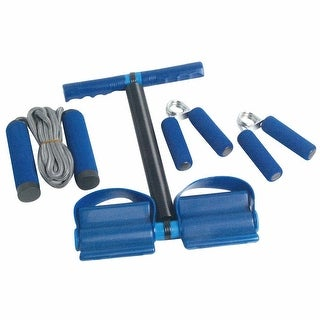 3 Way Jump Rope, Rower Handgrip and Training Set - Blue