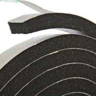 """Frost King R534H Black Rubber Foam Tape, 3/4"""" x 5/16"""" x 10'"""