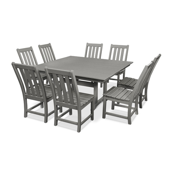 POLYWOOD Vineyard 9-Piece Farmhouse Dining Set. Opens flyout.