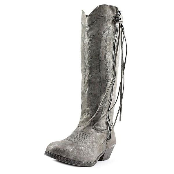 Rampage Womens Telula Fabric Pointed Toe Mid-Calf Cowboy Boots