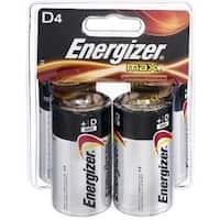 Energizer MAX D Alkaline Batteries 4 ea