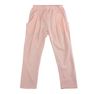 Richie House Little Girls Peach Sash Lace Accents Pants 2-3