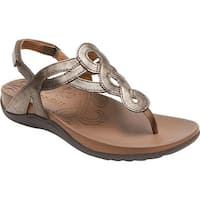 Rockport Women's Cobb Hill Ramona Thong Sandal Bronze Synthetic