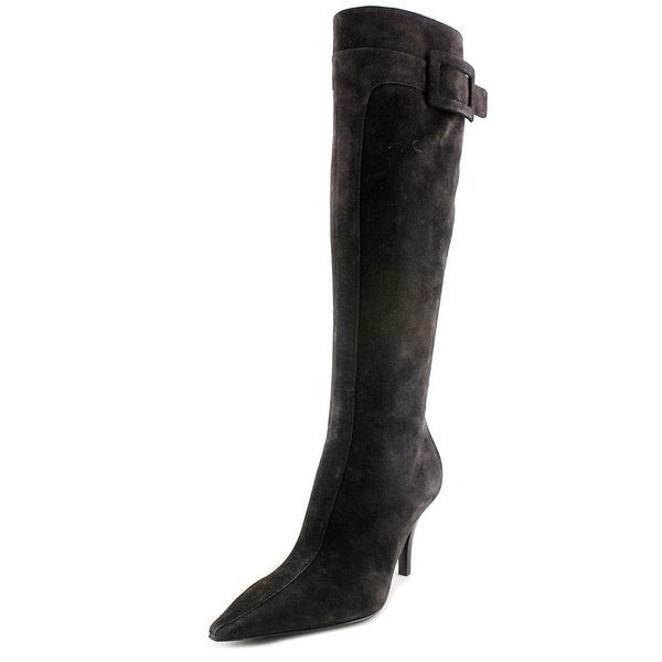 Roger Vivier Stivale Bouckle T.85 F.ric. Women Pointed Toe Suede Black