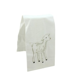 "27"" Decorative Embroidered Style Lamb Flour Sack Kitchen Hand Towel"