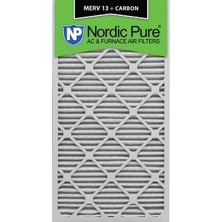 Nordic Pure 16x30x1 MERV 13 Plus Carbon AC Furnace Air Filters Qty 3