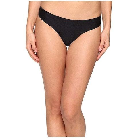 onia Women's Lily Textured Black Swimsuit Bottoms SZ M