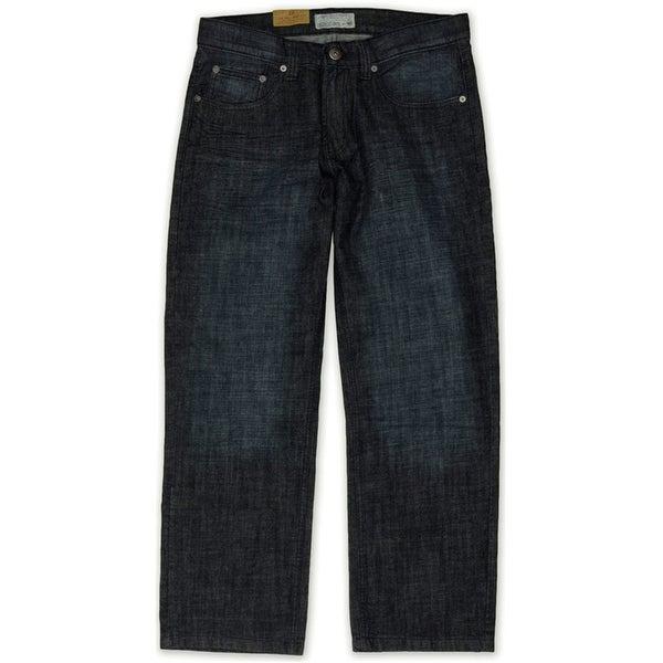 Ecko Unltd. Mens Core Coastal Relaxed Jeans, blue, 28W x 32L. Opens flyout.