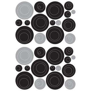 Brewster CR-57713 Black Circles Wall Decal