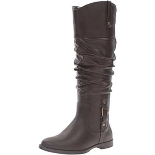 Easy Street Womens Vim Mid-Calf Boots Faux Leather Slouch