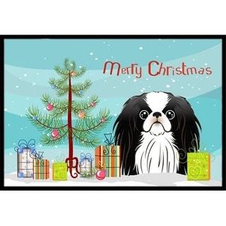 Carolines Treasures BB1602JMAT Christmas Tree & Japanese Chin Indoor or Outdoor Mat 24 x 36