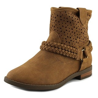 Jessica Simpson Rancho Youth Round Toe Synthetic Tan Bootie