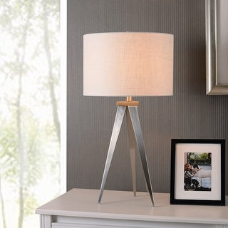 Link to Caperana 29-inch High Brushed Steel Finish Table Lamp Similar Items in Table Lamps