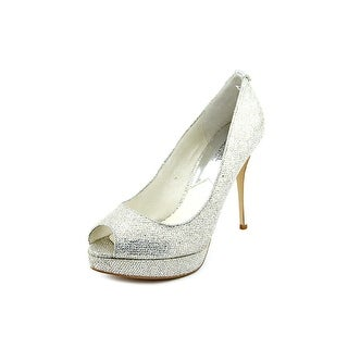 Michael Michael Kors York Platform Women Open Toe Synthetic Silver Platform Heel