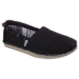 BOBS from Skechers Women's Chill Slip-On Flat, Black