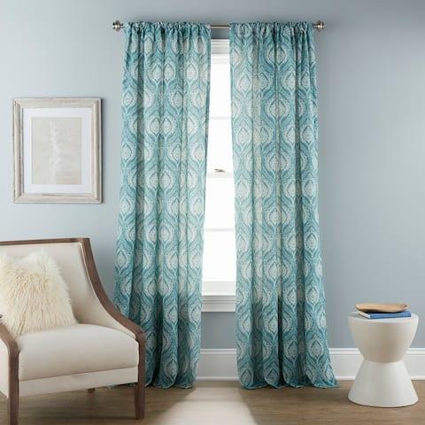 "Grand Avenue Naomi Sheer Rod Pocket Single Curtain Panel - 50 x 84"""