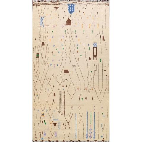 "Contemporary Tribal Moroccan Oriental Area Rug Wool Handmade Carpet - 10'1"" x 14'3"""